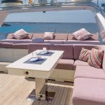 Mallorca boat rental charters yacht comfortable dining and sunbathing