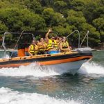 Speedboat group day or half day trip in Mallorca
